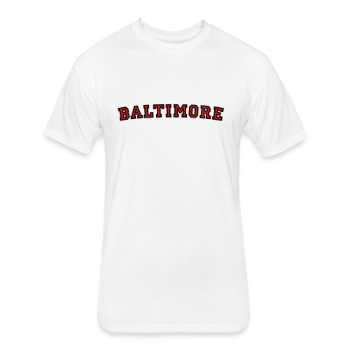 Baltimore T-Shirt College Style - Fitted Cotton/Poly T-Shirt by Next Level