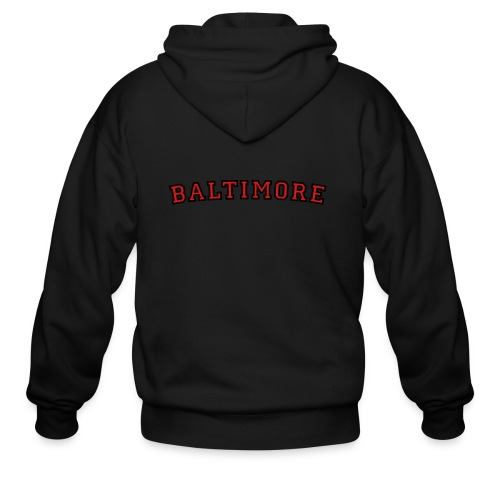 Baltimore T-Shirt College Style - Men's Zip Hoodie