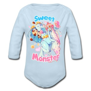 Sweet Monster Guy's Tee - Long Sleeve Baby Bodysuit