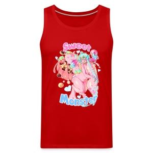 Sweet Monster (Pink) Guy's Tee - Men's Premium Tank