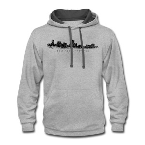 Baltimore, Maryland T-Shirt (Men/Gray) - Contrast Hoodie