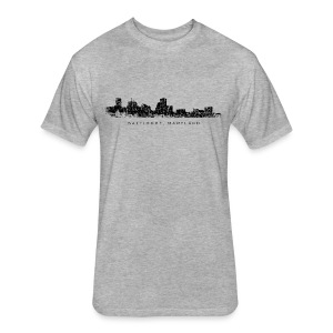 Baltimore, Maryland T-Shirt (Men/Gray) - Fitted Cotton/Poly T-Shirt by Next Level