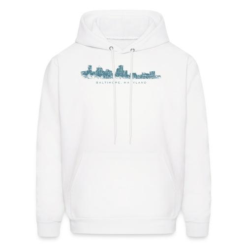Baltimore, Maryland Skyline T-Shirt (Men/White) - Men's Hoodie