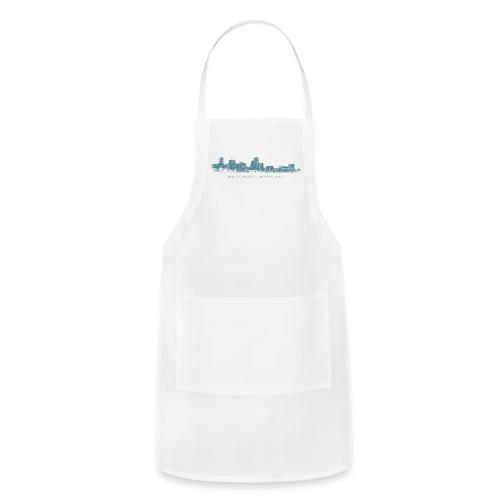 Baltimore, Maryland Skyline T-Shirt (Men/White) - Adjustable Apron