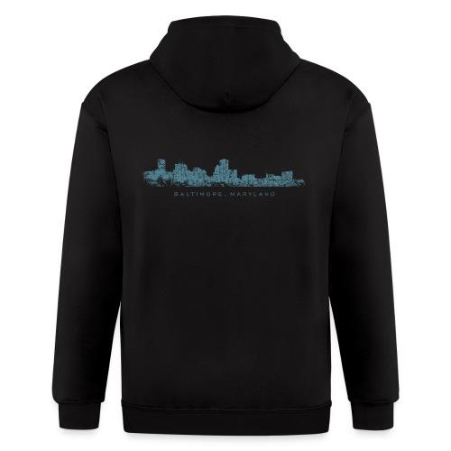 Baltimore, Maryland Skyline T-Shirt (Men/White) - Men's Zip Hoodie
