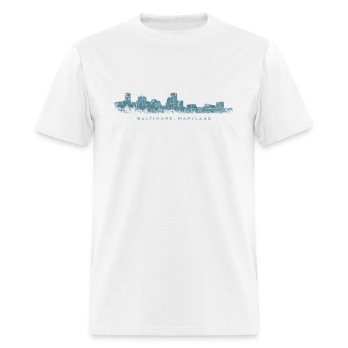 Baltimore, Maryland Skyline T-Shirt (Men/White) - Men's T-Shirt