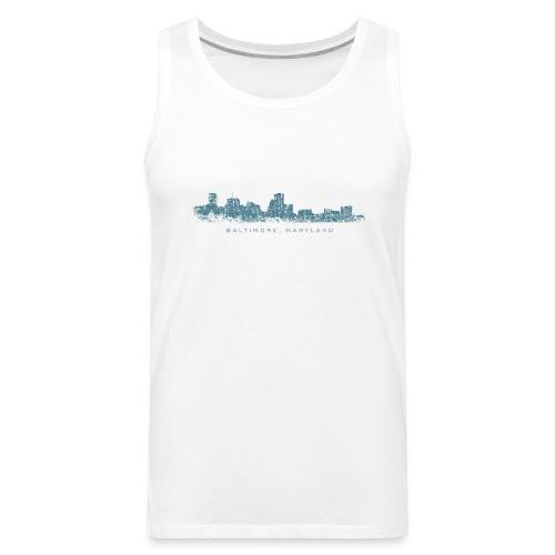 Baltimore, Maryland City Skyline Vintage Blue