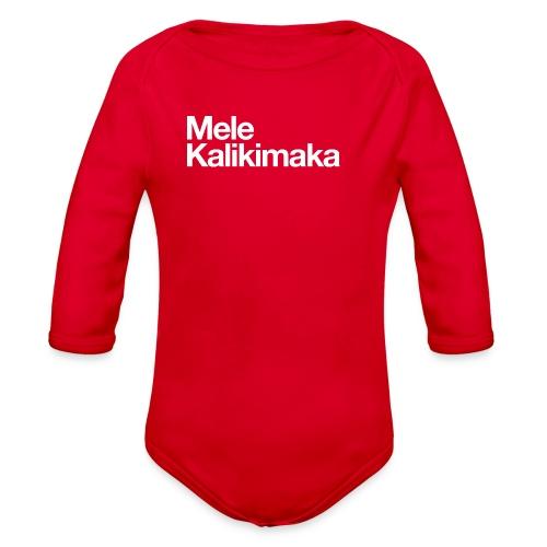 Mele Kalikimaka - Organic Long Sleeve Baby Bodysuit