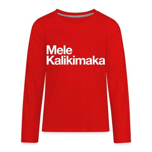 Mele Kalikimaka - Kids' Premium Long Sleeve T-Shirt