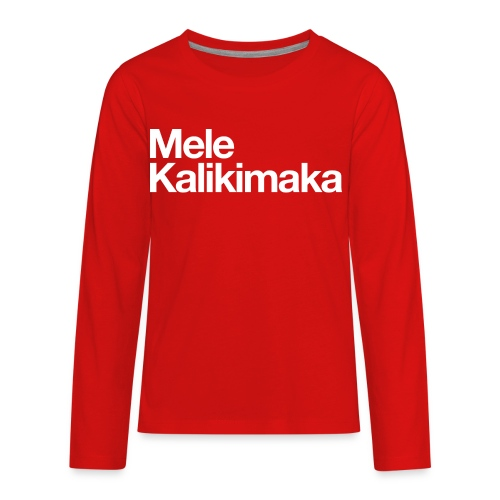 Mele Kalikimaka - Kids' Premium Long Sleeve T-Shirt
