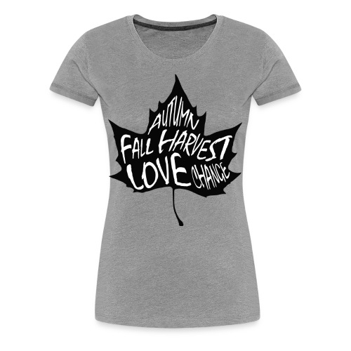 Fall Leaves on the Ground - Women's Premium T-Shirt