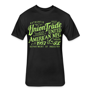Union Trade Mfg.-Black - Fitted Cotton/Poly T-Shirt by Next Level