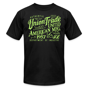 Union Trade Mfg.-Black - Men's Fine Jersey T-Shirt