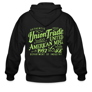 Union Trade Mfg.-Black - Men's Zip Hoodie