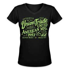 Union Trade Mfg.-Black - Women's V-Neck T-Shirt