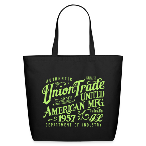 Union Trade Mfg.-Black - Eco-Friendly Cotton Tote