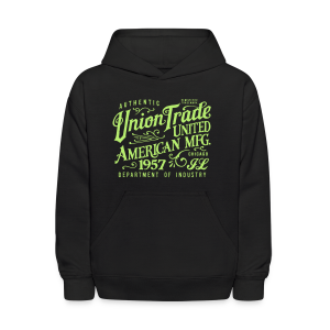 Union Trade Mfg.-Black - Kids' Hoodie