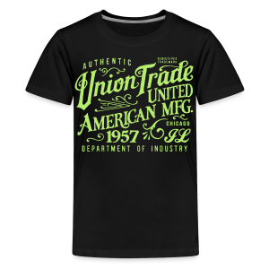 Union Trade Mfg.-Black - Kids' Premium T-Shirt