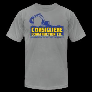 Consigliere Construction Co-Lt Blue - Men's Fine Jersey T-Shirt