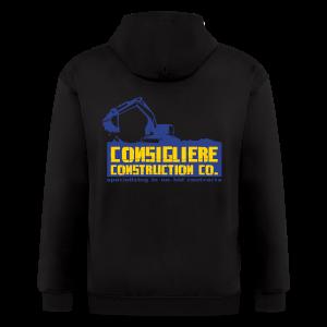 Consigliere Construction Co-Lt Blue - Men's Zip Hoodie