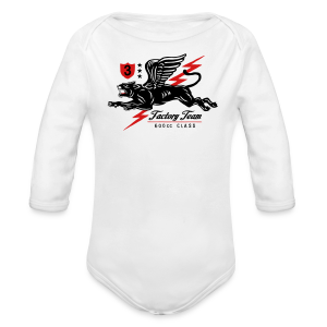 Winged Panther - Long Sleeve Baby Bodysuit