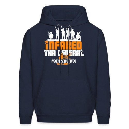 #Mandown T Navy/Orange/White - Men's Hoodie