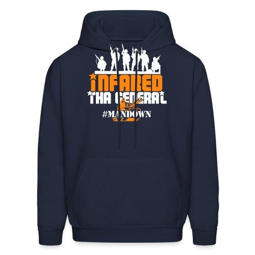 #Mandown T Navy/Orange/White - Men's Hoodie