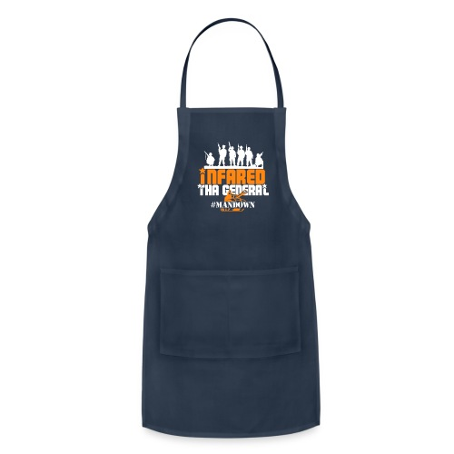 #Mandown T Navy/Orange/White - Adjustable Apron