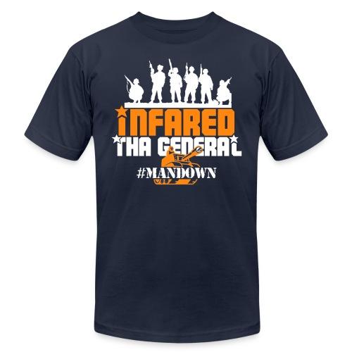 #Mandown T Navy/Orange/White - Men's Fine Jersey T-Shirt