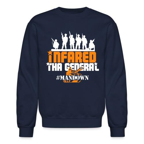 #Mandown T Navy/Orange/White - Crewneck Sweatshirt