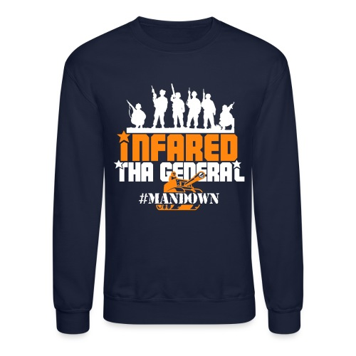 #Mandown T Navy/Orange/White - Crewneck Sweatshirt
