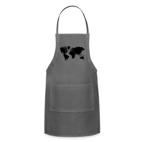 World Map T Shirt - Adjustable Apron