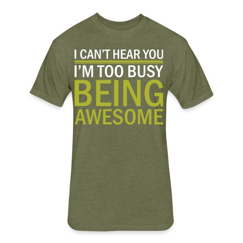 Being Awesome - Fitted Cotton/Poly T-Shirt by Next Level