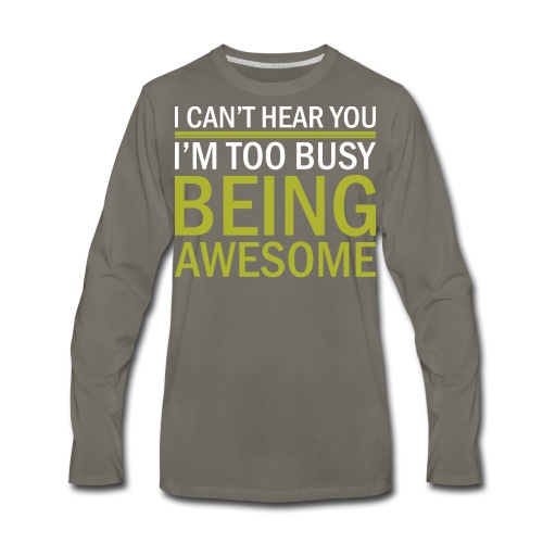 Being Awesome - Men's Premium Long Sleeve T-Shirt