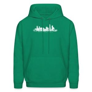 Charlotte, North Carolina Skyline T-Shirt (Children/Green) - Men's Hoodie