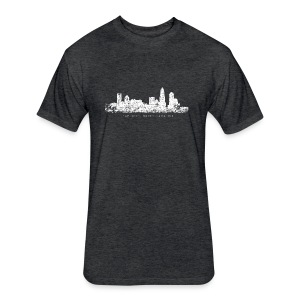 Charlotte, North Carolina Skyline T-Shirt (Children/Green) - Fitted Cotton/Poly T-Shirt by Next Level