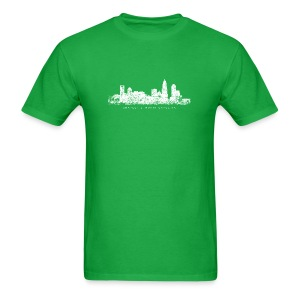 Charlotte, North Carolina Skyline T-Shirt (Children/Green) - Men's T-Shirt
