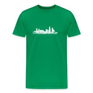 Charlotte, North Carolina Skyline T-Shirt (Children/Green) - Men's Premium T-Shirt