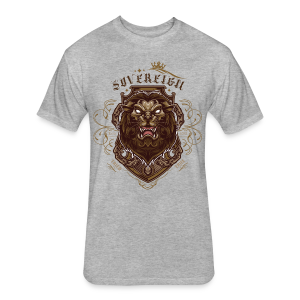 Sovereign Lion-color - Fitted Cotton/Poly T-Shirt by Next Level