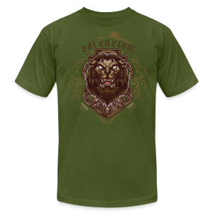Sovereign Lion-color - Men's T-Shirt by American Apparel