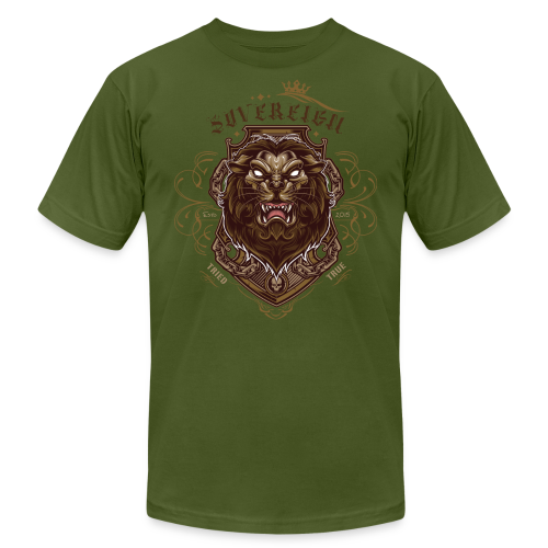Sovereign Lion-color - Men's Fine Jersey T-Shirt