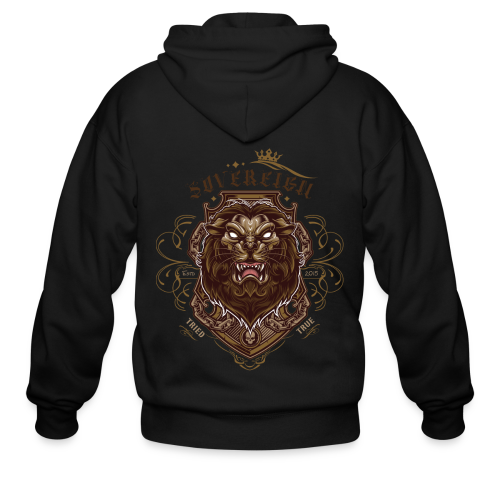 Sovereign Lion-color - Men's Zip Hoodie