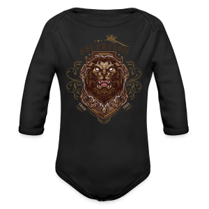 Sovereign Lion-color - Long Sleeve Baby Bodysuit