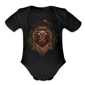 Sovereign Lion-color - Short Sleeve Baby Bodysuit