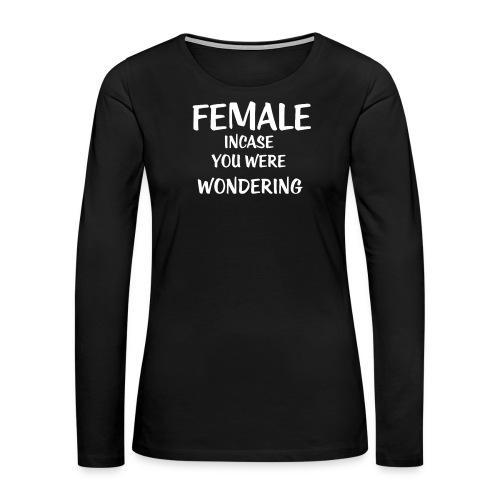 FEMALE - Women's Premium Long Sleeve T-Shirt