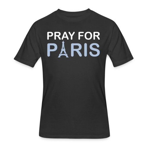Pray For Paris - Men's 50/50 T-Shirt