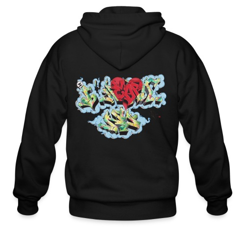 Nover - New York Graffiti Design - Men's Zip Hoodie