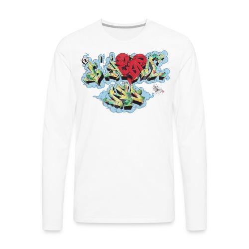 Nover - New York Graffiti Design - Men's Premium Long Sleeve T-Shirt