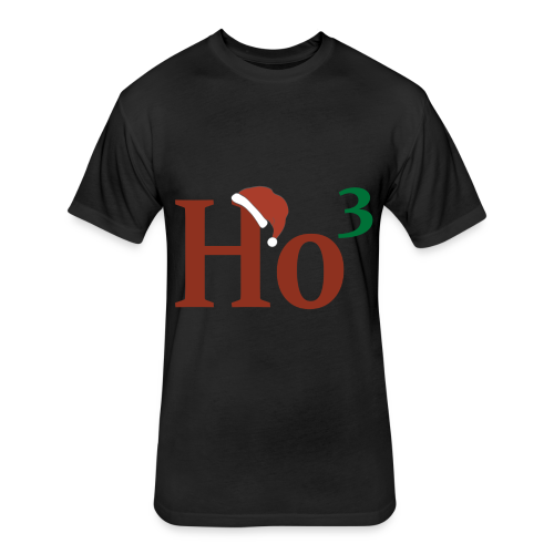 Ho cubed - Fitted Cotton/Poly T-Shirt by Next Level