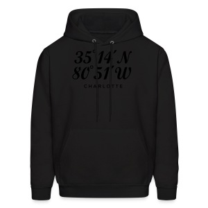 Charlotte, North Carolina Coordinates T-Shirt (Men/Gold) - Men's Hoodie